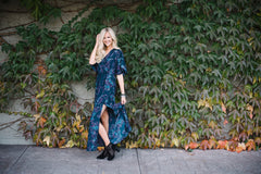 Midnight Floral Fall Maxi Dress