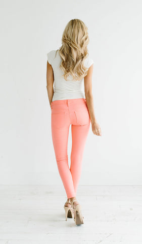 Color Me Coral Cropped Jeans