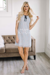 Light Blue Babydoll Lace Dress