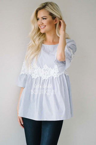 Summer Dreams Cotton & Lace Blouse