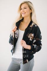 The Perfect Floral Bomber Jacket