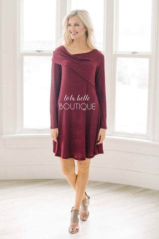 The Way To My Heart Burgundy Dress