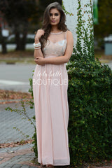 Pretty in Pink & Sequins Full Length Dress