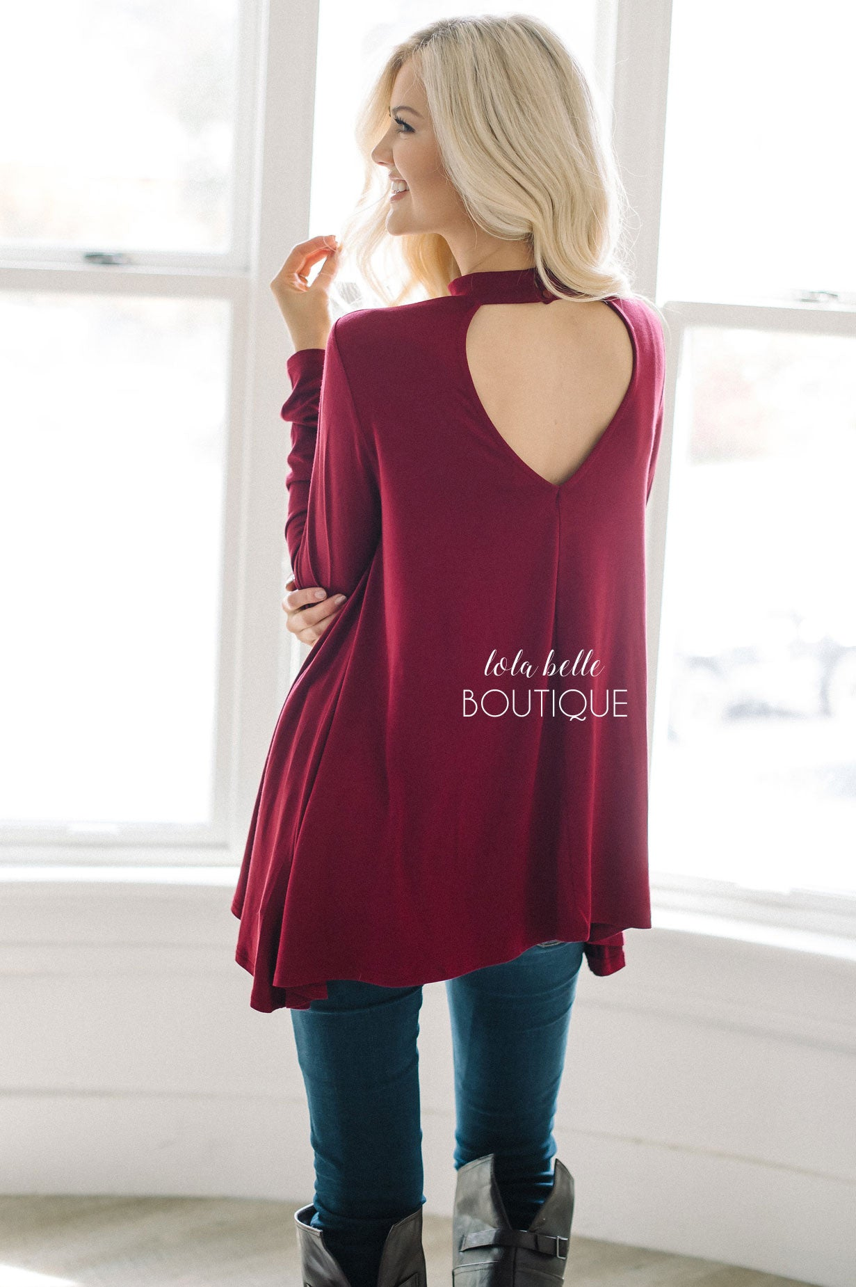 Simply Beautiful Burgundy Blouse