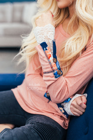 It's All In The Details Coral Top