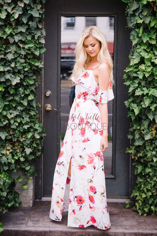 My Wish For You White Floral Maxi