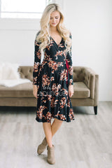 Into The Woods Floral Wrap Dress