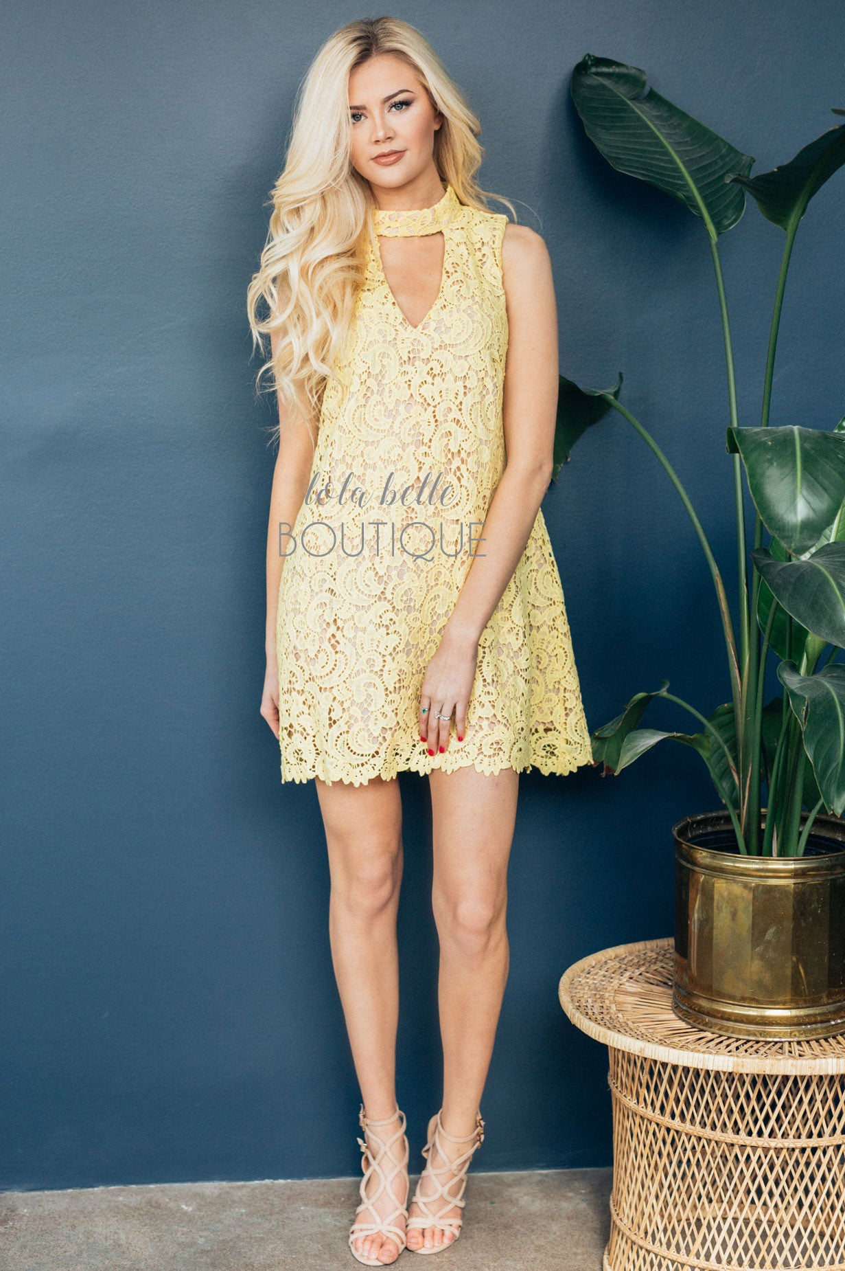 Ray of Sunshine Yellow Lace Dress