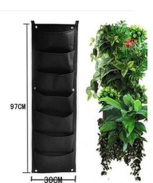 7 Pocket Hanging Vertical Garden - EarthCitizen  - 2