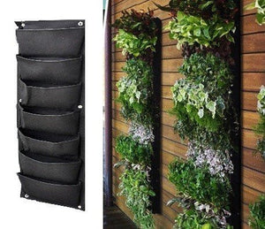 7 Pocket Hanging Vertical Garden - EarthCitizen  - 1