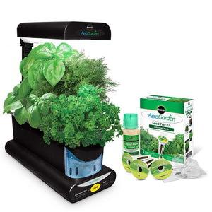 Miracle-Gro AeroGarden Sprout with Gourmet Herb Seed Pod Kit, Black - EarthCitizen  - 1