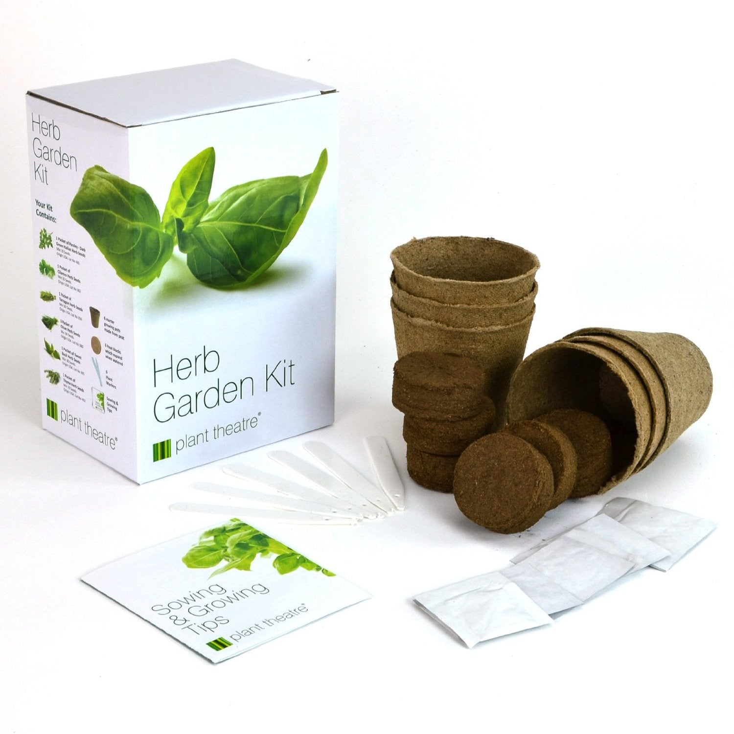 Plant Theatre Herb Garden Seed Kit Gift Box   6 Different Herbs To Grow    EarthCitizen