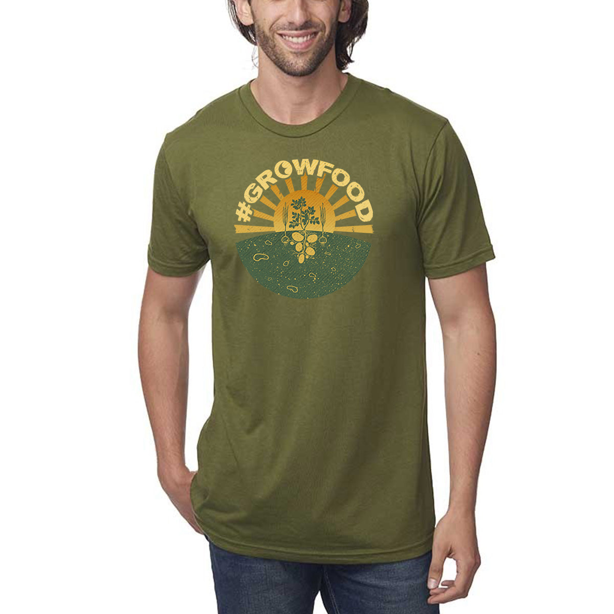 #GrowFood - All Natural - Hemp / Cotton - T-Shirt - Unisex