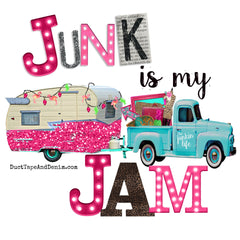 Colorful Junkin' Vintage Style T-Shirts