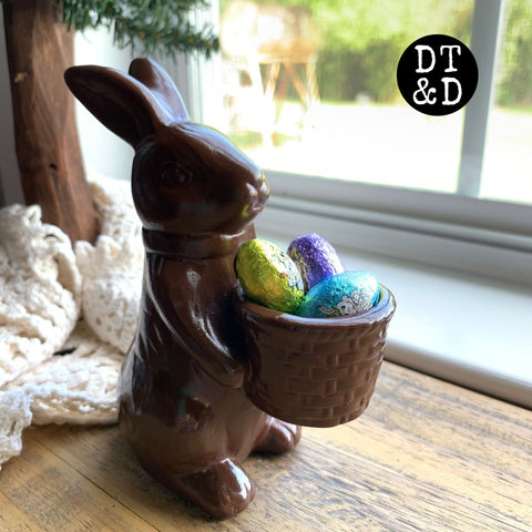 Faux Chocolate Easter Bunny (1)