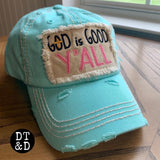 God is Good Y'all Baseball Cap - Aqua