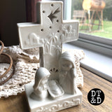 White Ceramic Nativity