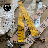 Vintage Tape Measure Bracelet Blank, Assorted Colors (1)