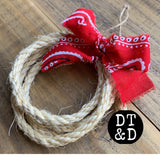 "Rope Christmas Ornament - 4"" Inch"
