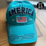 Patriotic America Baseball Cap with American Flag