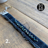 Repurposed Denim Blue Jean Bracelets
