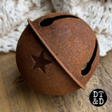 Large Rusty Jingle Bell (1), 65mm