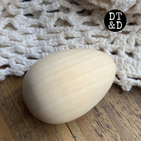 "Unfinished Wood Egg, 1.5"" (1)"