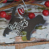 Beagle Christmas Ornament, Rustic Metal Dog Ornament