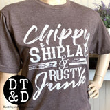Chippy Shiplap and Rusty Junk Farmhouse T-Shirt