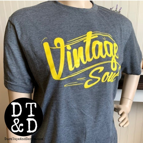 Vintage Soul Short Sleeve T-Shirt - Yellow