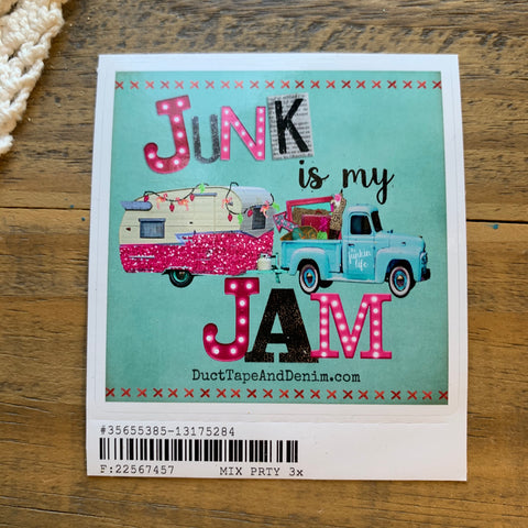 Junk is My Jam Sticker - Turquoise - 3 Sizes