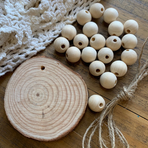 Wood Bead Door Knob Hanger Kit (1)