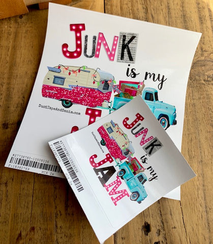 Junk is My Jam Sticker