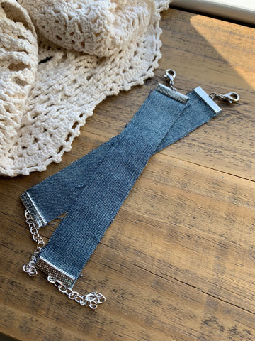 Adjustable Denim Bracelet Blank