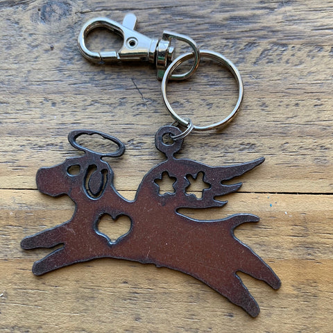 Angel Dog Keychain