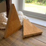 Unfinished Wood Triangle Christmas Tree or Candy Corn