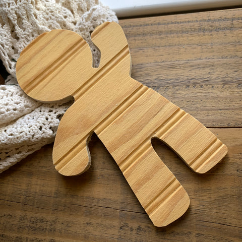 "Unfinished Wood Gingerbread Man, 9"" Inch (1)"