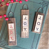 JOY or NOEL Yardstick Christmas Ornament