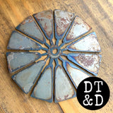 Metal Windmill Blades to DIY, 4 inch
