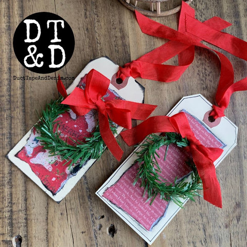 Christmas Wreath Gift Tag Kit (10)