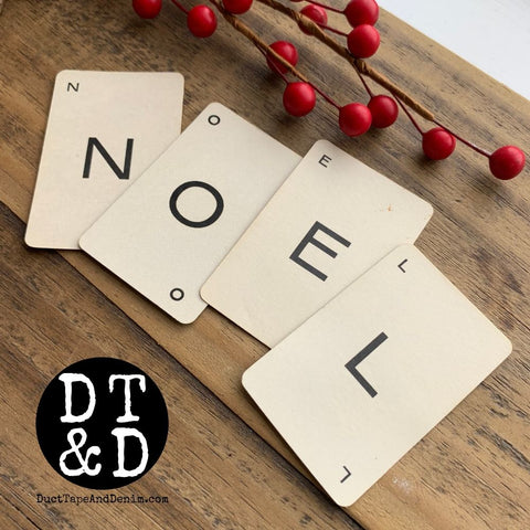 Vintage Letter Playing Cards - A-Z