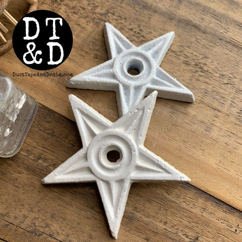 "White Iron Star (1) - 2.5"" inch"