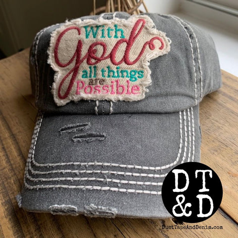 With God All Things Are Possible Baseball Cap