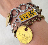 1956 Texas Bracelet, Vintage License Plate Tag Jewelry