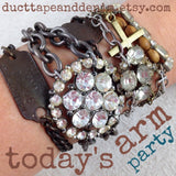 Repurposed Pressed Penny Copper Bracelet