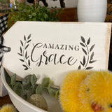Amazing Grace Tag Mini Easter Sign