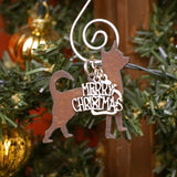 Chihuahua Christmas Ornament, Rustic Metal Dog Ornament