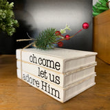 Faux Book, Unfinished Wood Blanks for Stacked Books Decor (1)