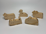 Natural Wood Farm Animal Toy Playset