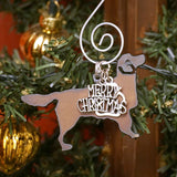 Golden Retriever Christmas Ornament, Rustic Metal Dog Ornament